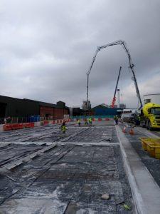 Preparation Works for Lorry Park 200m3 Concrete Slab - April 2019
